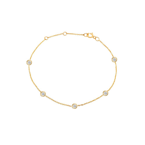 Diamond by the Yard Bracelet 14K Yellow Gold