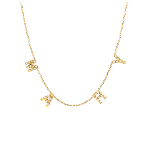 Mini Diamond Initial Spaced Necklace
