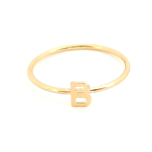 Initial Ring 14K Gold