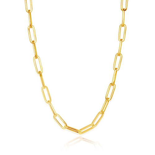 Paper Clip Chain Necklace 14K Gold Filled