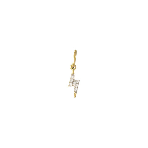 Diamond Lightning Charm 14K Yellow Gold