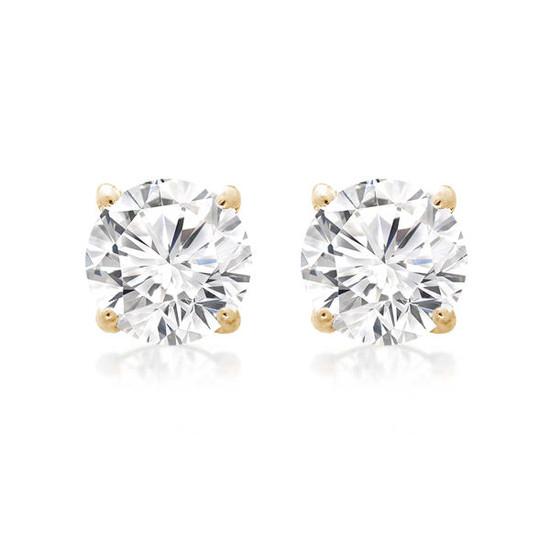 Diamond Stud Earring 14K Yellow Gold