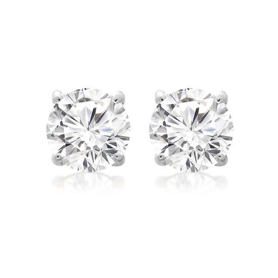 Diamond Stud Earring 14K White Gold