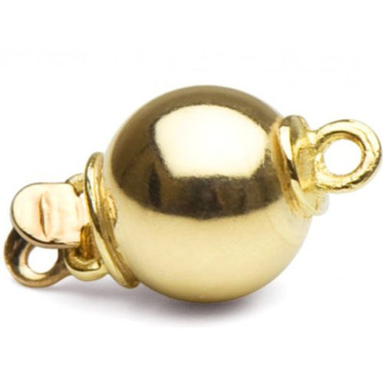 One lovely 14K yellow ball clasp