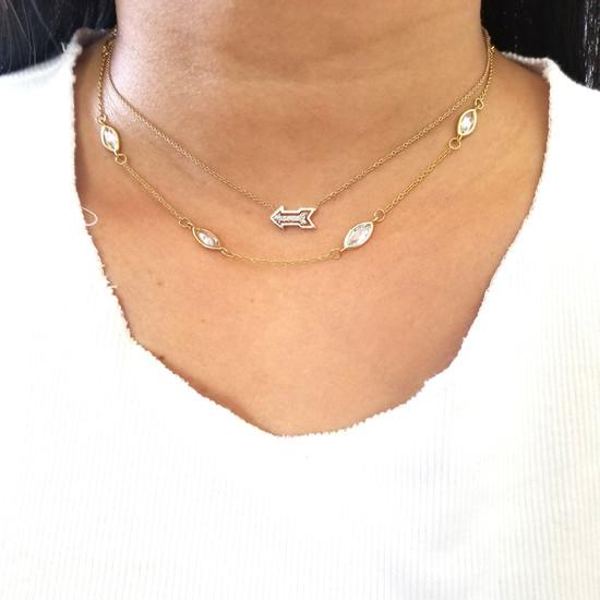 Arrow Necklace 14K Gold
