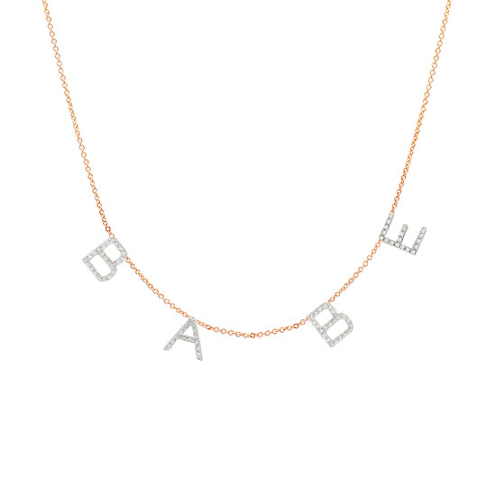 Multiple Diamond Initial Necklace