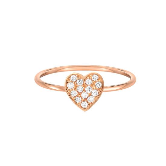 Diamond Heart Ring 14K Gold
