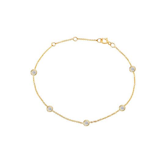 Diamond by the Yard Bracelet 14K Yellow Gold