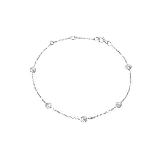 Diamond by the Yard Bracelet 14K White Gold