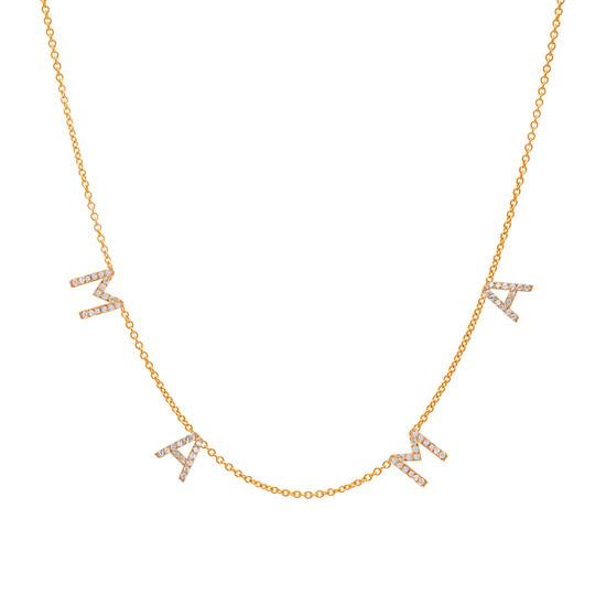 Diamond Space Mama Necklace