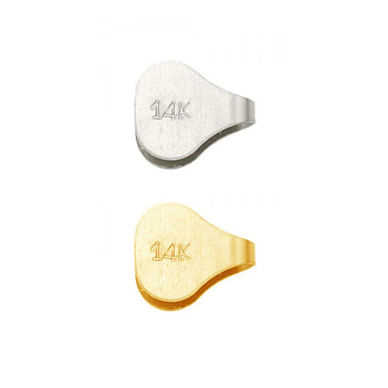 14K Gold Flat End Cap For Chain