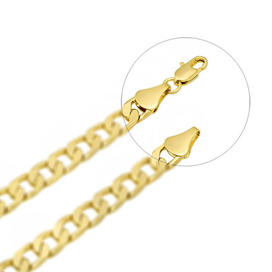 18K Yellow Gold Flat End Cap For Chain