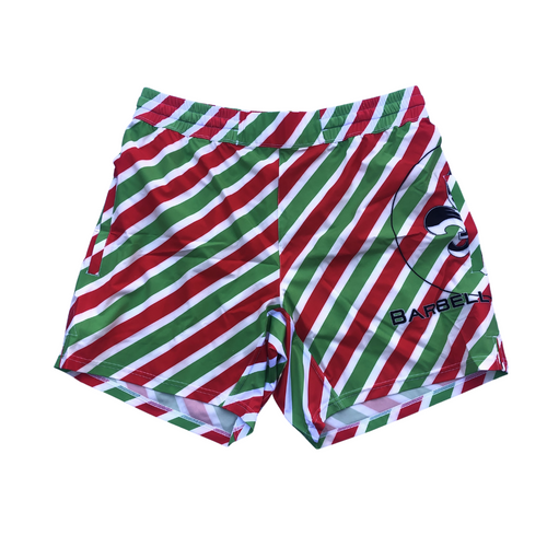 Christmas Stripes Men's Shorts