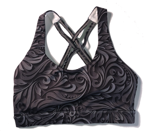 Grey Swirl Sports Bra - FINAL SALE