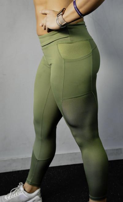 Mesh Legging - Military Green