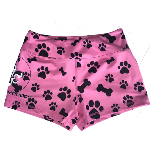 The Ella - Pink Puppy Paws Women's Shorts