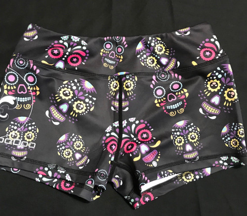 Glowing Skulls Women's Shorts