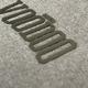 Raised Rubber Logo Hoodie - Dark Gray