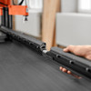 The EASYSTICK can be extended to a length of 1700 mm using an extension ruler