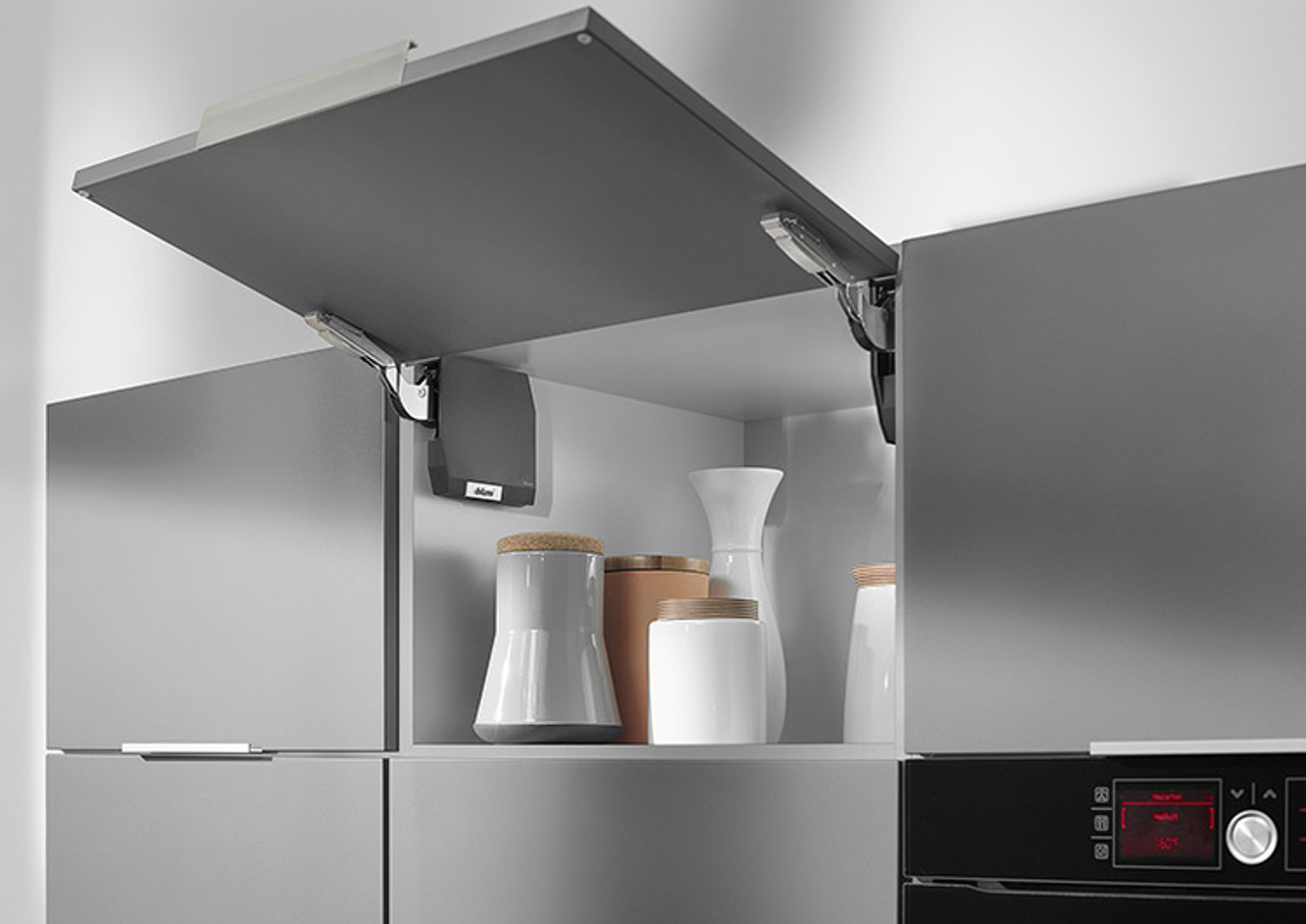 Make optimal use of small cupboards above refrigerators or larder units