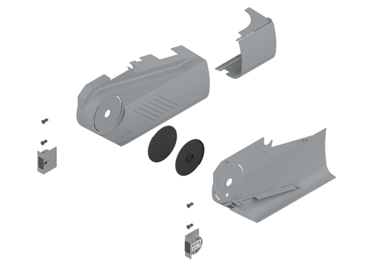 21S8000 AVENTOS HS SERVO-DRIVE cover caps in light grey