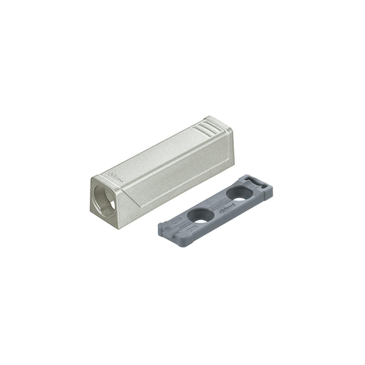 TIP-ON for Doors Short Inline Adapter Plate - Nickel