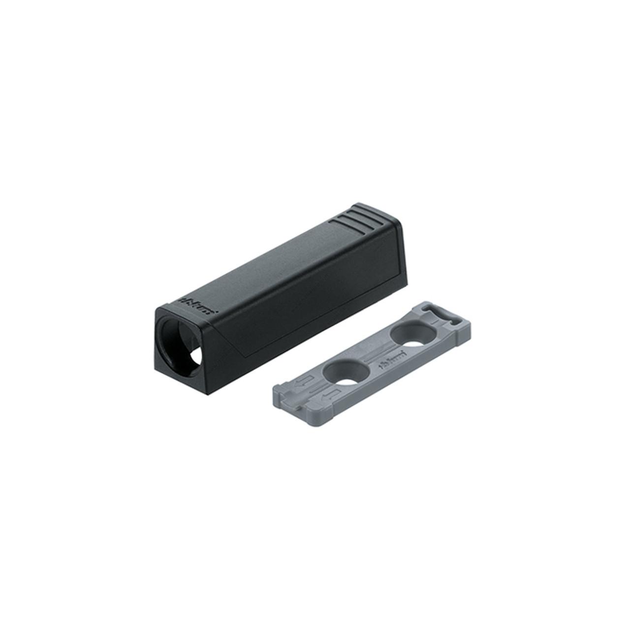 TIP-ON for Doors Short Inline Adapter Plate - Black
