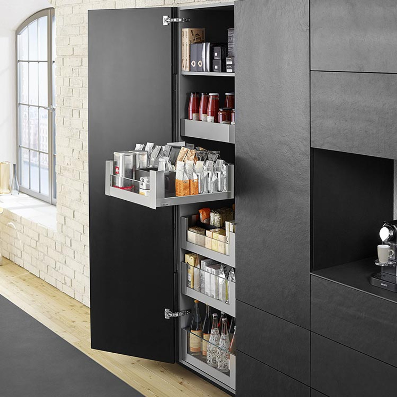 LEGRABOX free SPACE TOWER with glass design elements, see your contents at a glance
