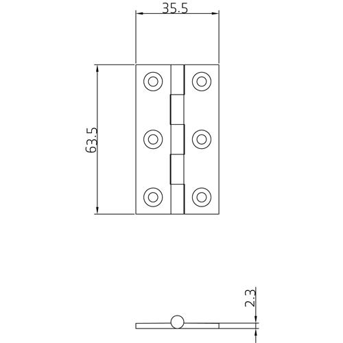 SIMONSWERK 0960 Urn Finial Butt Hinge 63 x 35mm