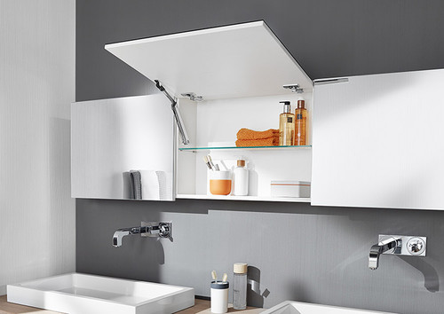 AVENTOS HK-XS is ideal for using all available wall cupboard space
