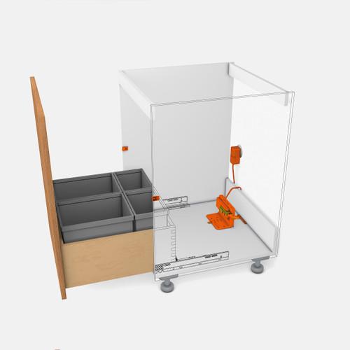 SERVO-DRIVE Uno for Bottom Mount Waste Bin Solutions