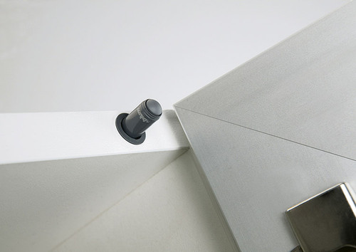 To be drilled hinge side within the cabinet top panel