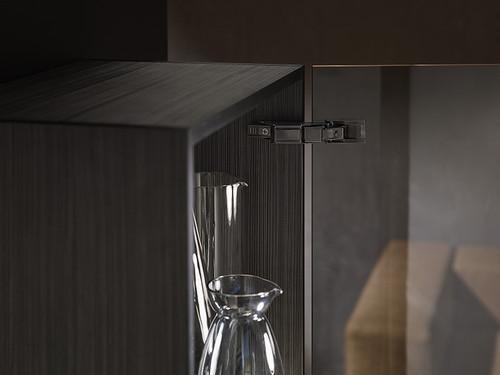 Onyx 110° CLIP top Soft Close CRISTALLO Glass Door Hinge