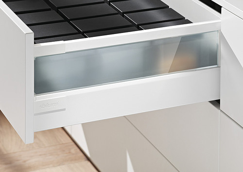 TANDEMBOX antaro: High fronted drawer (height D) with frosted glass design element