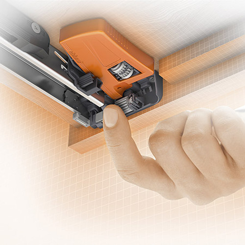 The depth adjustment for is an option for inset applications. Setting range +/- 2mm