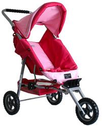 valco mini marathon doll pram - butterfly pink