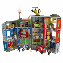 everyday heroes police and fire station set