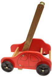 Qtoys eco-friendly wooden baby car walker