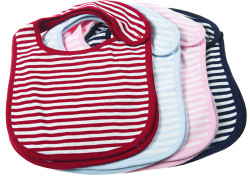 designer baby bibs - French Stripe Collection