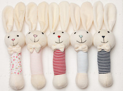 emotion and kids bunny stripe stick rattles