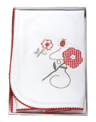 emotion and kids garden girl wrap blanket