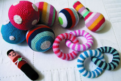 baby crochet rattles
