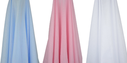 emotion and kids coloured muslin wraps - white, pink and blue