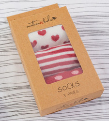 emotion and kids heart and stripes red baby socks