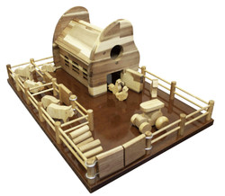 qtoys wooden farm barn
