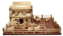kids wooden farm set