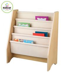 kidkraft sling bookshelf natural