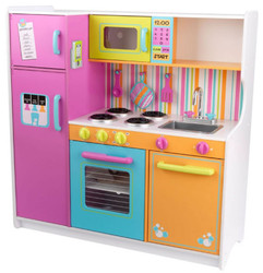 kidkraft big and bright large wooden play kitchen