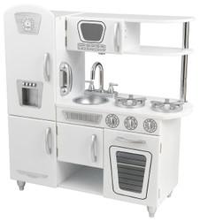 white retro play kitchen