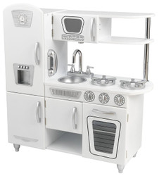 white retro play kitchen